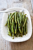Dilly Beans; Blanched Chilled Green Beans with Dill and Vinegar
