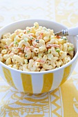 Bowl of Hawaiian Macaroni Salad