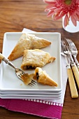 Phyllo Triangles with Sun Dried Tomato Filling