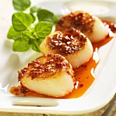 Sauteed Scallops with Red Pepper Oil