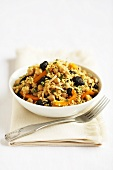 Bulgur Salad with Dried Fruit and Chickpeas