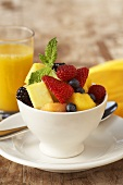 Fresh Fruit Cup with Orange Juice
