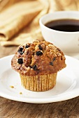 Banana Raisin Muffin with Coffee
