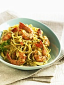 Shrimp Linguini with Caper Sauce