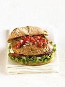 Tuna Burger with Tomato Chive Relish