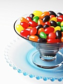 Glass Bowl of Jelly Beans