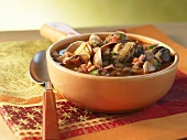 Bowl of Clam Soup with Pasta