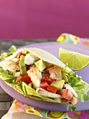 Crab Taco with Lime