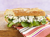 Chicken Fennel Salad Sandwich on Baguette