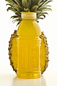 Half a Pineapple with Flavored Vitamin Water