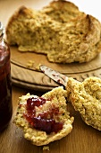 Soda Bread with Jam