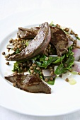 Lambs Liver with Lentils and Spinach