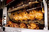 Chickens Roasting at Tuscan Market
