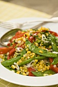 Corn Salad with Snap Peas and Red Peppers