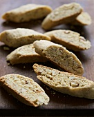 Cornmeal Almond Biscotti on Wooden Board