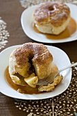 Apple dumplings with cinnamon sugar