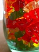 Gummy Bears in a Glass Jar