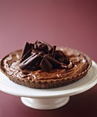 Chocolate Mousse Torte with Chocolate Curls