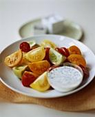 Mixed Tomato Salad with Creamy Yogurt Dressing on the Side