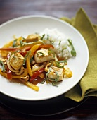 Vegetable and Tofu Stir Fry with Rice