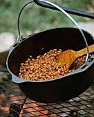 Barbecue Baked Beans Over the Fire