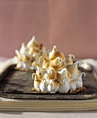 Toasted Meringue on Gingerbread Cookie