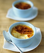 Individual Creme Brulee with Scoop Removed