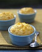 Sweet Corn Pudding in Ramekins