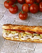Submarine Sandwich; Tomatoes