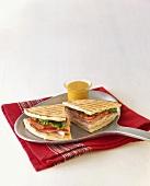 Flat Bread Sandwich; Halved