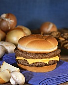Double Cheeseburger with Ingredients