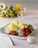 Chopped Salad with Iceberg Lettuce and Blue Cheese; Dressing on the Side