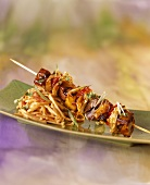 Asian Style Kabob with Noodles