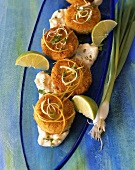 Fishcakes with Tartar Sauce and Lime Slices