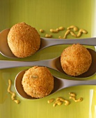 Fried Crab Risotto Balls on Spoons