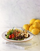 Sliced Chicken and Tabouleh with Salad