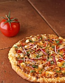 Whole Chicken and Vegetable Pizza