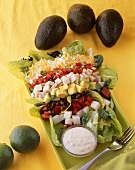 Chopped Salad with Dressing on the Side; Avocados