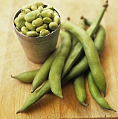 Fava Beans In and Out of Pods