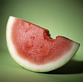 Watermelon Slice with Bite Taken Out