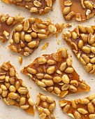 Broken Pieces of Homemade Peanut Brittle