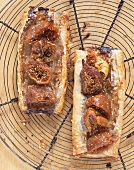 Rustic Fig Tarts on Cooling Rack