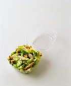 Chicken Caesar Salad in Take Out Container