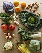 Fresh Vegetable and Fruit Still Life