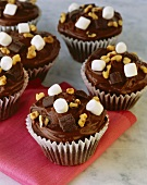 Chocolate Marshmallow Walnut Cupcakes