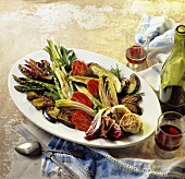 Antipasto di verdure (antipasti platter with roasted vegetables)