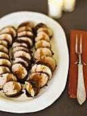 Sliced Roast Pork Tenderloin Platter