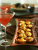 Stuffed Potato Appetizers with Cosmopolitans