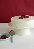 Whole Tres Leches Cake with Raspberries