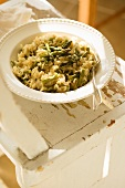Bowl of Roasted Asparagus Risotto